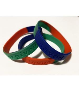 3 Armbånd: Loved forgiven...