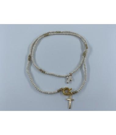 Dobbelt kors halskæde