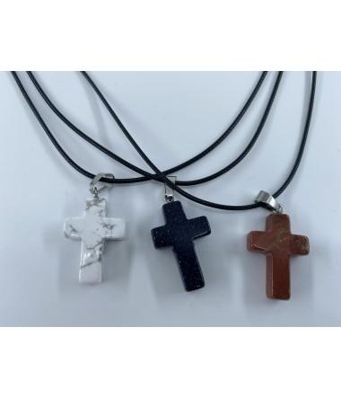 Sten kors halskæde