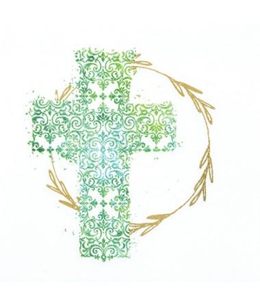 Frokostservietter: Kors i grøn