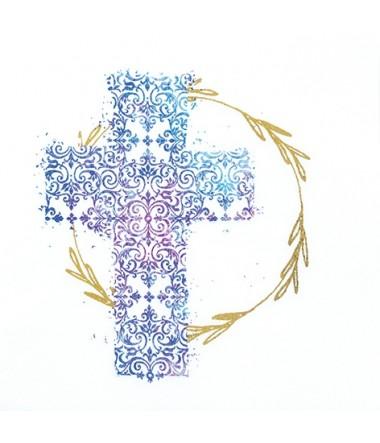 Frokostservietter: Kors i blå