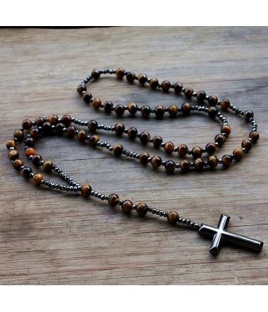 Halskæde/Rosenkrans med kors